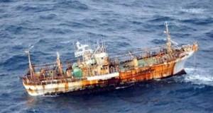 Ιαπωνικό αλιευτικό που παρασύρθηκε από το τσουνάμι