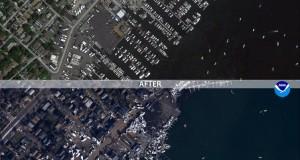 Δείτε φωτογραφίες πρίν και μετά τον κυκλώνα Sandy απο την Αμερικανική υπηρεσία NOOA