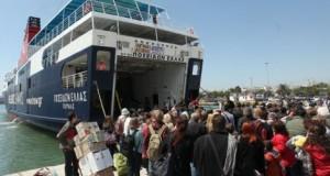Μειώθηκε η διακίνηση επιβατών στα λιμάνια