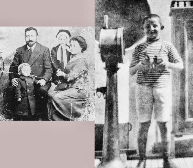 Με τους γονείς του και ένα από τα τρία αδέρφια του, πιθανόν η αδερφή του Τζένια
