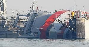 Aνατροπή ρυμουλκού του Τουρκικού ναυτικού [vid]