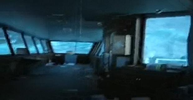 Δείτε τι γίνεται στη γέφυρα πλοίου σε κακοκαιρία [video]