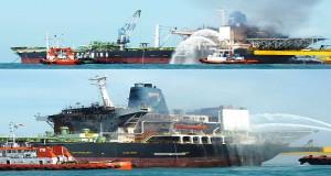Πυρκαγιά σε πλοίο FSO – ένας αγνοούμενος [pics]
