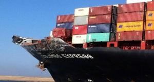 Φωτογραφίες από την σύγκρουση των πλοίων στο Σουέζ