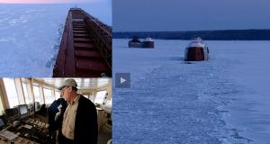Δείτε το πλοίο-θρύλος «Paul R. Tregurtha» να παγιδεύεται στον πάγο [video]