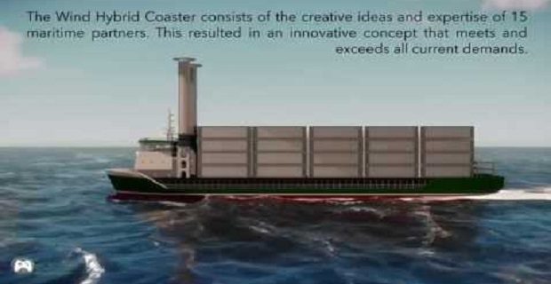 Wind Hybrid Coast: H νέα γενιά motor-rotor πλοίων[video]