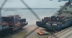 Δυο containerships συγκρούστηκαν στη Μαλαισία
