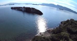 Εντυπωσιακό βίντεο με drone για το πιο γνωστό ναυάγιο της Ελευσίνας