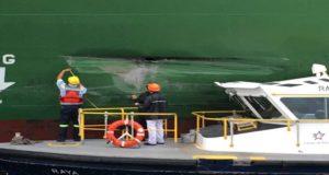 Neopanamax προσέκρουσε σε τοίχο καθώς διέσχιζε τη Διώρυγα του Παναμά