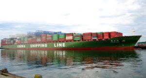 Πλοίο της COSCOCS σπάει ρεκόρ στη Βοστώνη