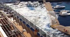 Η καταστροφή ιταλικής μαρίνας από το Carnival Vista από βίντεο επιβάτη (video)