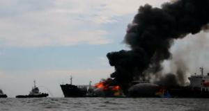 Πυρκαγιά σε tanker της Pemex στον Κόλπο του Μεξικού (photos)