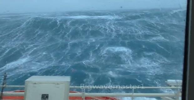 Μια τυπική χειμωνιάτικη μέρα στη βόρεια θάλασσα [βίντεο]