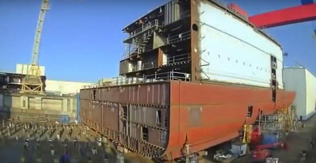 Η κατασκευή του μεγαλύτερου κρουαζιερόπλοιου στον κόσμο μέσα από ένα Time-Lapse βίντεο