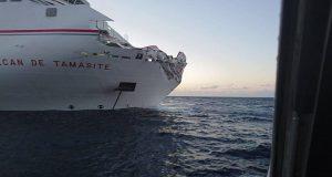 Καρέ- καρέ η πρόσκρουση επιβατηγού πλοίου σε λιμάνι στα Κανάρια νησιά [ΒΙΝΤΕΟ-ΦΩΤΟ]