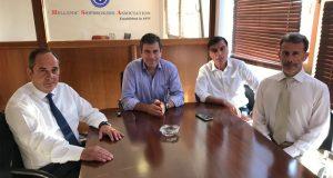 Συνάντηση του κ. Γ. Πλακιωτάκη με το Προεδρείο του Συνδέσμου Μεσιτών Ναυτιλιακών Συμβάσεων