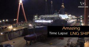 Εκπληκτικό time lapse βίντεο με την κατασκευή πλοίου Lng