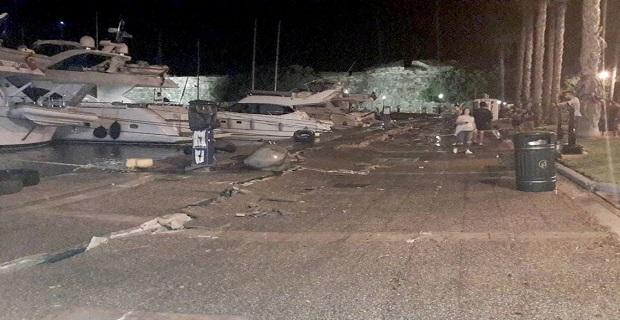 Μεγάλες ζημιές στο λιμάνι της Κω από τον φονικό σεισμό
