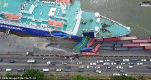 ΒΙΝΤΕΟ: Πρόσκρουση Ferry σε προβλήτα στον Άγιο Δομίνικο