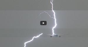 Κεραυνός χτυπά ένα Boeing 777 που μόλις έχει απογειωθεί! [βίντεο]