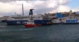 Σύγκρουση πλοίων στη Δραπετσώνα [βίντεο]