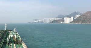 Entering Hong Kong waters….
