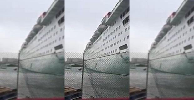 Έσπασαν οι κάβοι κρουαζιερόπλοιου στις Μπαχάμες (βίντεο)