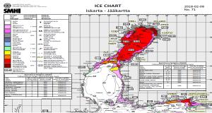 Λήψη χαρτών πάγου για τη Βαλτική Θάλασσα