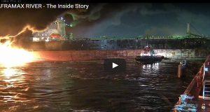 Βίντεο με την φωτιά στο δεξαμενόπλοιο Aframax River – βραβείο γενναιότητας του IMO στους δύο πλοηγούς!