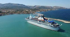 Πρώτη άφιξη Κρουαζιεροπλοίου στη Χίο για τη φετινή τουριστική περίοδο (ΒΙΝΤΕΟ DRONE)