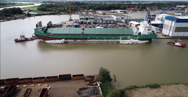 Η καθέλκυση φορτηγού πλοίου στις 31 Αυγούστου μέσα από ένα εντυπωσιακό βίντεο
