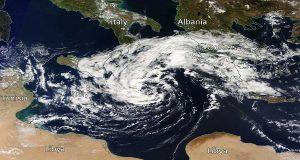 Ο Μεσογειακός κυκλώνας φαίνεται ότι θα έχει μέγεθος συγκρίσιμο με αυτό της Πελοποννήσου