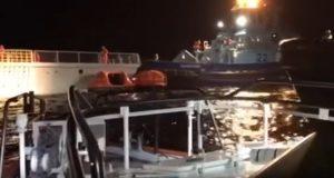 Σύγκρουση Νορβηγικής φρεγάτας με το Ελληνικό δεξαμενόπλοιο Sola TS [βίντεο]