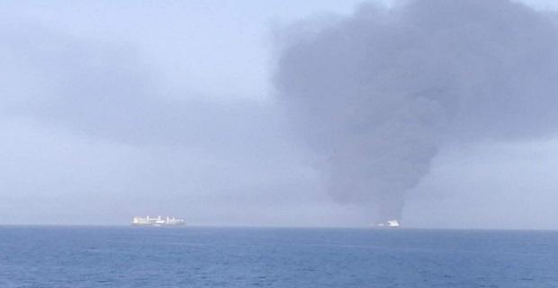 Έκρηξη σε δύο δεξαμενόπλοια στον Κόλπο του Ομαν!