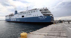 Στην προβλήτα της Άνδρου προσέκρουσε το Aqua Blue