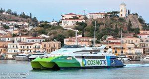 Σύγκρουση Flying Cat 3 με θαλάσσιο ταξί στο λιμάνι της Υδρας